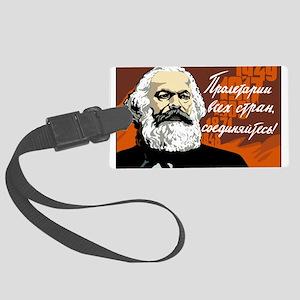 Karl Marx Large Luggage Tag