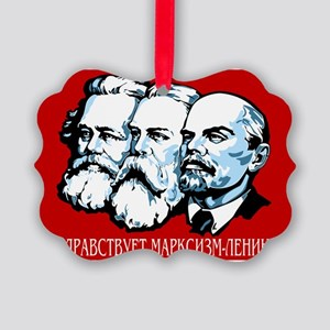 Marx, Engels, Lenin Picture Ornament