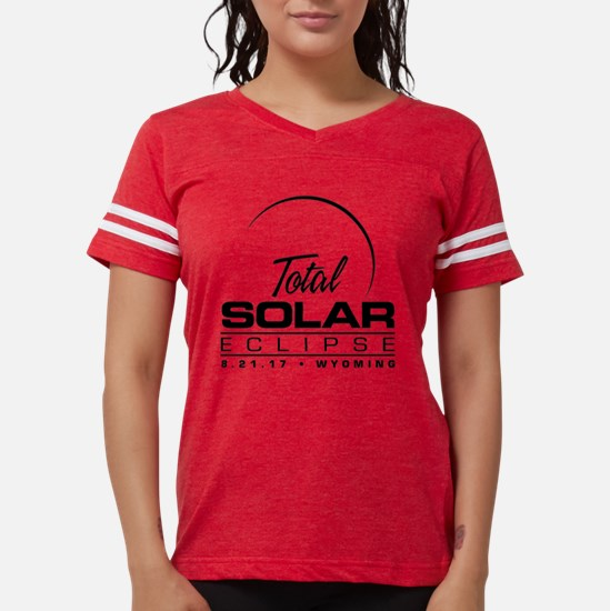 Total Solar Eclipse Wyoming  Womens Football Shirt