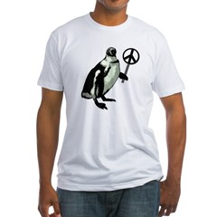 Peace Penguin Fitted USA T-Shirt