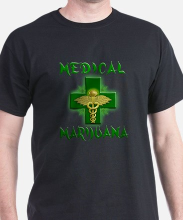Medical Marijuana Cross T-Shirt
