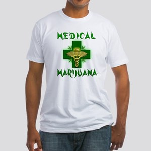 Medical Marijuana Cross Fitted T-Shirt