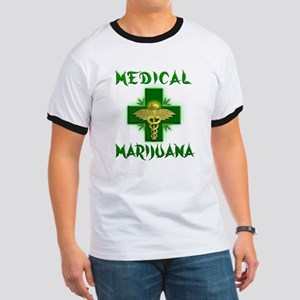 Medical Marijuana Cross Ringer T