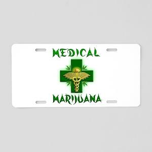 Medical Marijuana Cross Aluminum License Plate