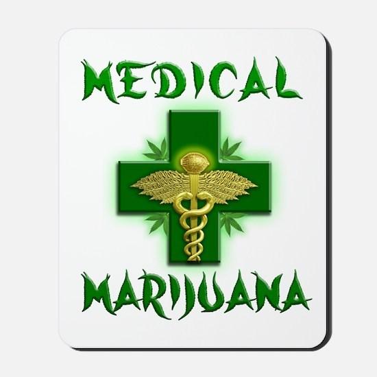 Medical Marijuana Cross Mousepad