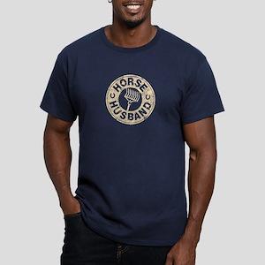Horse Husband Men's Fitted T-Shirt (dark)