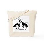 Kokopelli Race Car Driver Tote Bag