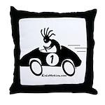 Kokopelli Race Car Driver Throw Pillow