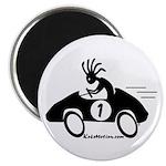 Kokopelli Race Car Driver Magnet