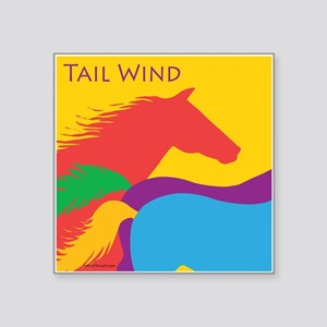 "Tail Wind Square Sticker 3"" x 3"""