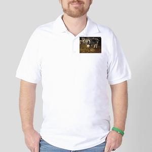 Longhorn Cattle Golf Shirt