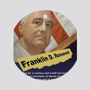 Our Flag - FDR Round Ornament