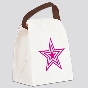 Pauly Star-Pink-01 Canvas Lunch Bag
