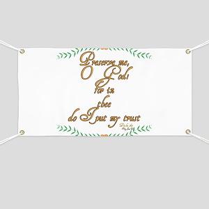 Psalm 16 1 Green Vines Banner