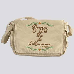 Psalm 16 1 Green Vines Messenger Bag