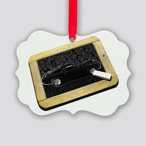 chalk board stang Picture Ornament