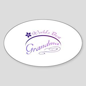 World's Best Grandma (purple) Sticker (Oval)