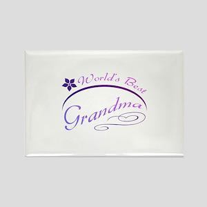 World's Best Grandma (purple) Rectangle Magnet