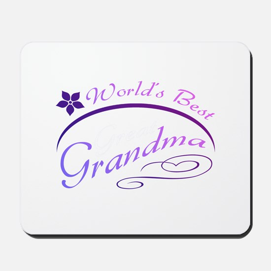 World's Best Grandma (purple) Mousepad