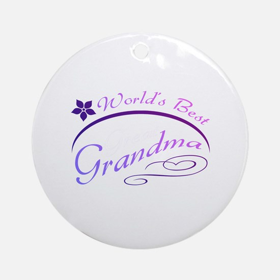 World's Best Grandma (purple) Ornament (Round)