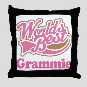 Grammie (Worlds Best) Throw Pillow