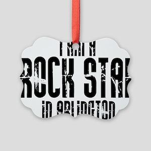 Rock Star In Arlington Picture Ornament