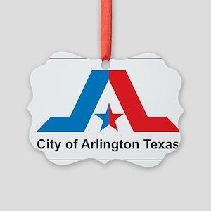 Arlington Flag Picture Ornament