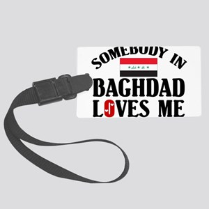 Somebody In Baghdad Large Luggage Tag