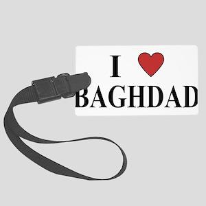 I Love Baghdad Large Luggage Tag