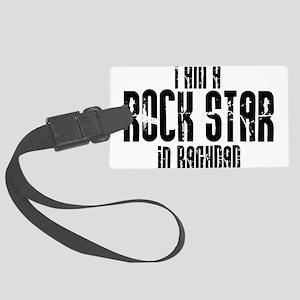 Rock Star In Baghdad Large Luggage Tag