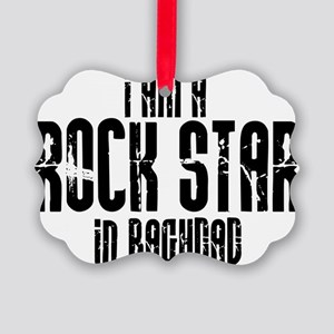 Rock Star In Baghdad Picture Ornament