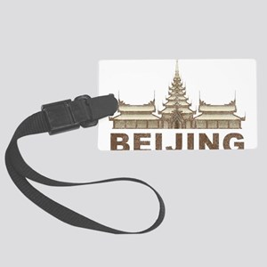 Vintage Beijing Temple Large Luggage Tag