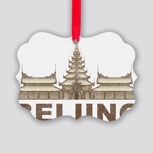 Vintage Beijing Temple Picture Ornament