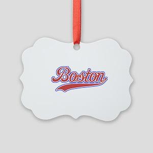 Retro Boston Picture Ornament