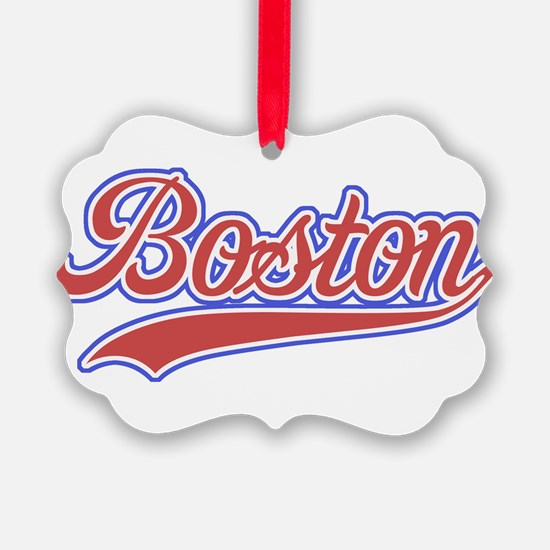 Retro Boston Ornament