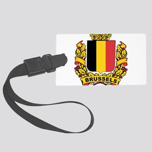 Stylized Brussels Crest Large Luggage Tag