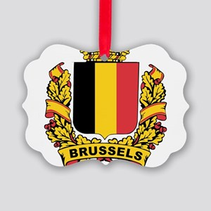 Stylized Brussels Crest Picture Ornament