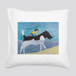 Large Dog Square Canvas Pillow