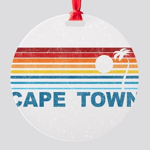 Palm Tree Cape Town Round Ornament