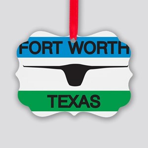 Fort Worth Flag Picture Ornament