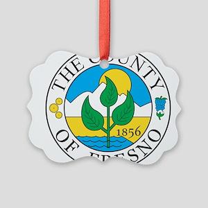 Fresno Seal Picture Ornament