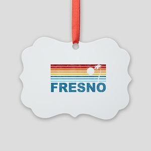Palm Tree Fresno Picture Ornament
