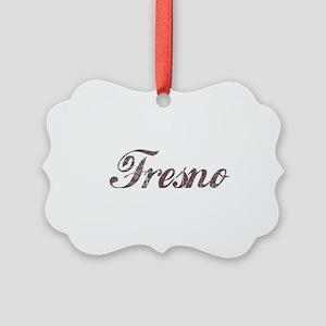 Vintage Fresno Picture Ornament