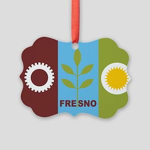 Fresno Flag Picture Ornament