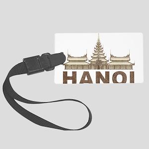Vintage Hanoi Temple Large Luggage Tag