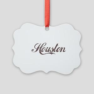 Vintage Houston Picture Ornament