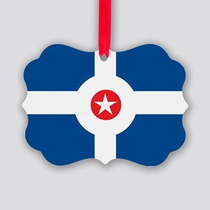 Indianapolis Flag Picture Ornament