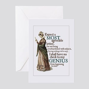 Jane Austen Genius Greeting Cards (Pack of 10)