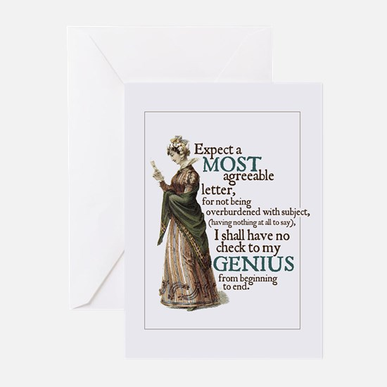 Jane Austen Genius Greeting Cards (Pack of 10)