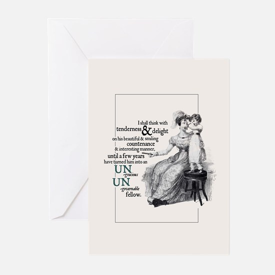 Jane Austen Ungracious Greeting Cards (Pack of 10)